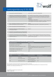 Leistungserklärung Roland Wolf GmbH